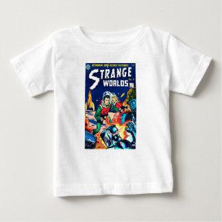 Camiseta Para Bebê Mundos estranhos -- Robôs irritados