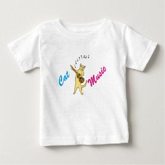 Camiseta Para Bebê Música do gato