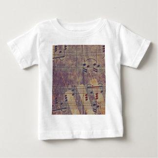 Camiseta Para Bebê Música, olhar B do vintage