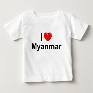 Camiseta Para Bebê Myanmar
