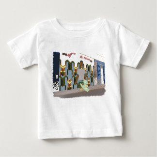 Camiseta Para Bebê Na rua, ilustração bonito dos animais