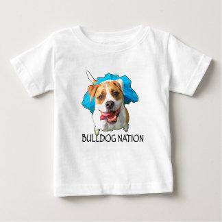 Camiseta Para Bebê nação do buldogue