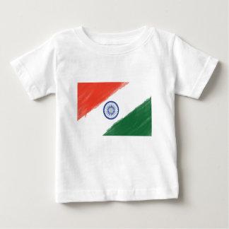 Camiseta Para Bebê Nação nacional do país de India da bandeira