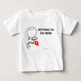 Camiseta Para Bebê Nada fazer aqui
