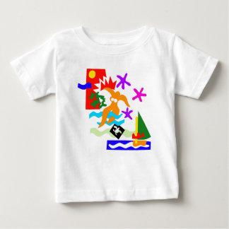 Camiseta Para Bebê Nadador do verão - t'shirt do bebê