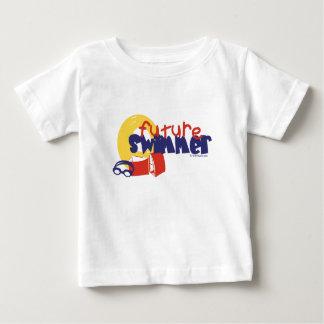 Camiseta Para Bebê Nadador futuro