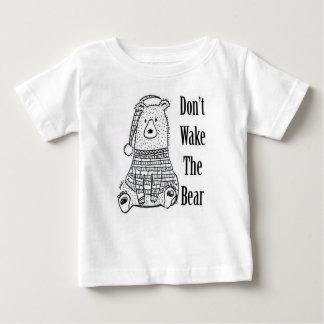 Camiseta Para Bebê Não acorde o urso