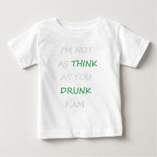 Camiseta Para Bebê Não como o bebado