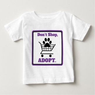 Camiseta Para Bebê Não comprar adotam