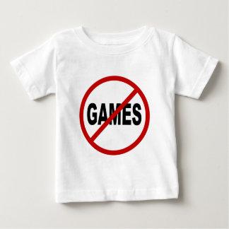 Camiseta Para Bebê Não deie os jogos/nenhum jogo permitidos a