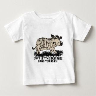 Camiseta Para Bebê não deixe os bastardos mmoê-lo para baixo