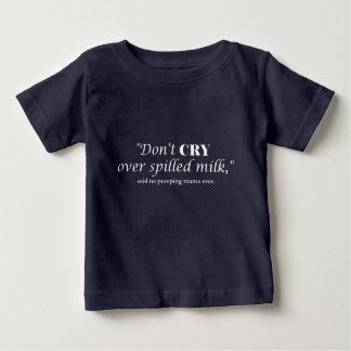 """Camiseta Para Bebê """"Não grita o leite sobre derramado"""" com rotulação"""