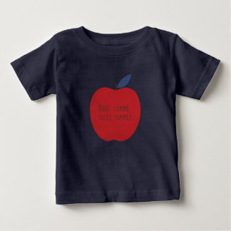 Camiseta Para Bebê Não mais alta de três maçãs