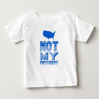 Camiseta Para Bebê Não meu azul do presidente América