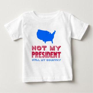 Camiseta Para Bebê Não meu azul vermelho do presidente Ainda Meu País