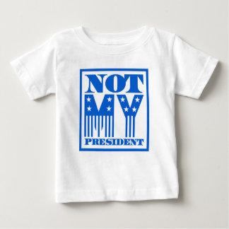 Camiseta Para Bebê Não meu presidente bandeira dos Estados Unidos