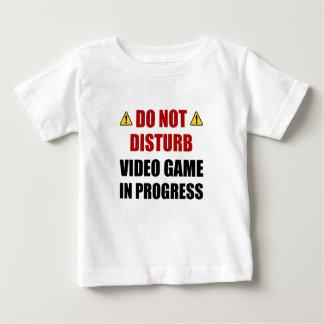 Camiseta Para Bebê Não perturbe o jogo de vídeo