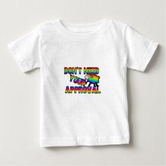 Camiseta Para Bebê Não precise sua aprovação