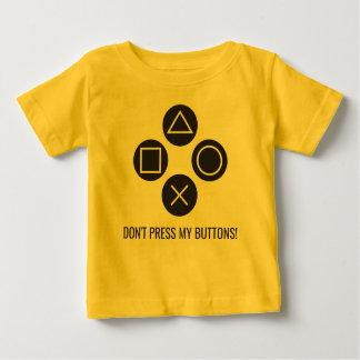 Camiseta Para Bebê Não pressione meus botões