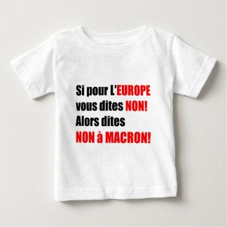 Camiseta Para Bebê Não T político do à MACRON