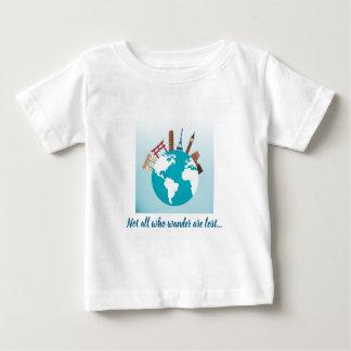 Camiseta Para Bebê Não tudo que vagueia é perdido - monumentos no