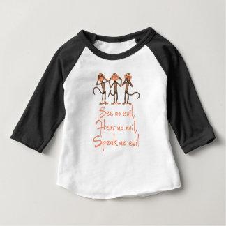 Camiseta Para Bebê Não veja nenhum mau - para não ouvir nenhum mau -