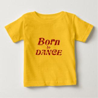 Camiseta Para Bebê Nascer a dançar