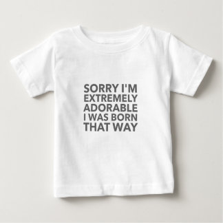 Camiseta Para Bebê Nascer adorável que maneira