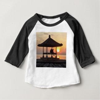 Camiseta Para Bebê Nascer do sol em Bali