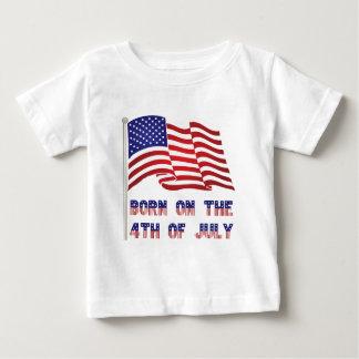 Camiseta Para Bebê nascer no 4o julho