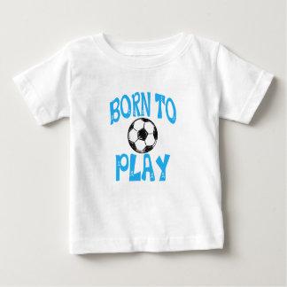 Camiseta Para Bebê nascer para jogar o futebol