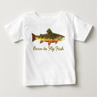 """Camiseta Para Bebê """"Nascer para voar pesca cómico da truta dos"""