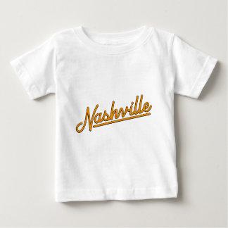 Camiseta Para Bebê Nashville na laranja
