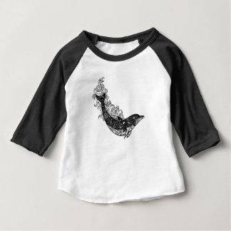 Camiseta Para Bebê Natação do golfinho
