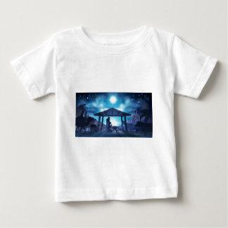 Camiseta Para Bebê Natal da cena da natividade