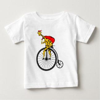 Camiseta Para Bebê Natal de Papai Noel do girafa