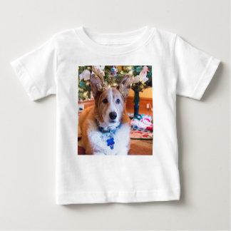 Camiseta Para Bebê Natal do Corgi de Galês do Pembroke