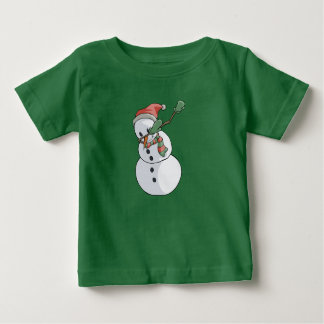 Camiseta Para Bebê Natal engraçado de toque ligeiro do t-shirt do