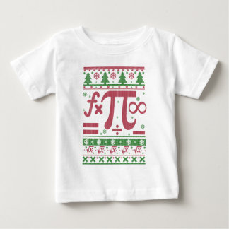 Camiseta Para Bebê Natal feio da matemática