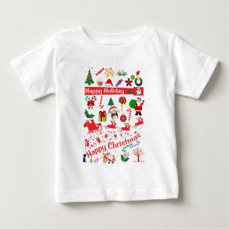 Camiseta Para Bebê Natal feliz