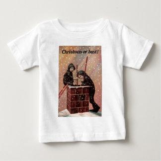 Camiseta Para Bebê Natal ou busto, foto da antiguidade da varredura