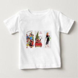 Camiseta Para Bebê natal vintage rockabilly