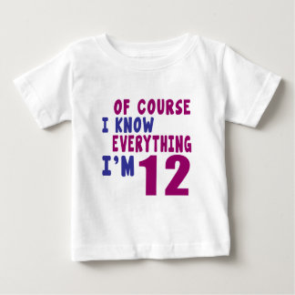 Camiseta Para Bebê Naturalmente eu sei que tudo eu sou 12