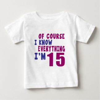 Camiseta Para Bebê Naturalmente eu sei que tudo eu sou 15