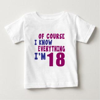 Camiseta Para Bebê Naturalmente eu sei que tudo eu sou 18