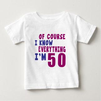 Camiseta Para Bebê Naturalmente eu sei que tudo eu sou 50