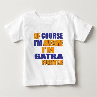 Camiseta Para Bebê Naturalmente eu sou lutador de Gatka