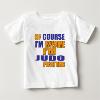 Camiseta Para Bebê Naturalmente eu sou lutador do judo