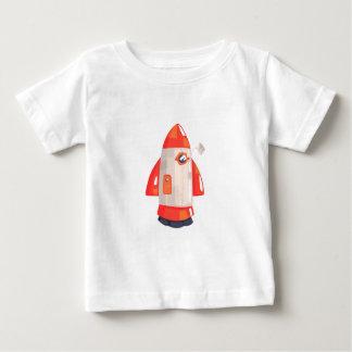 Camiseta Para Bebê Nave espacial clássica de Rocket com antena