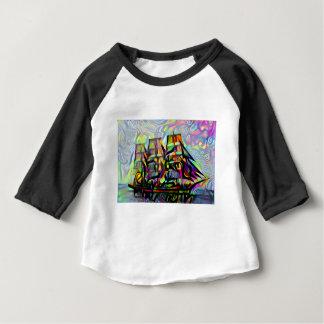 Camiseta Para Bebê Navio da cor